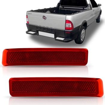 Refletor Parachoque Traseiro Fiat Strada 2004 2005 2006 2007