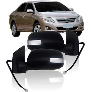 Retrovisor Corolla 2008 2009 2010 2011 2012 Retrátil Com Pisca