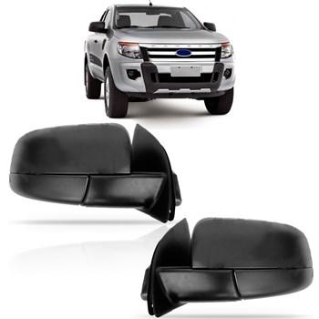 Retrovisor Elétrico Ford Ranger 2013 2014 2015 Sem Pisca Preto
