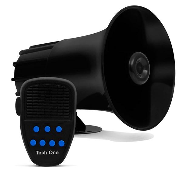 Sirene Policia Tipo Rontan Megafone 7 Tons Carro Moto Alarme - 12V Tech One