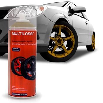 Spray Envelopamento Liquido Dourado 400ml Multilaser Au422