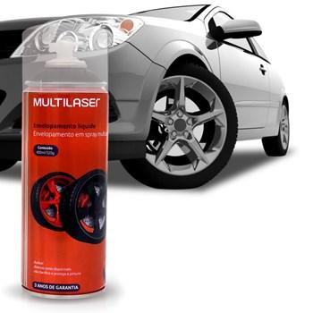 Spray Envelopamento Liquido prata 400ml Multilaser Au423