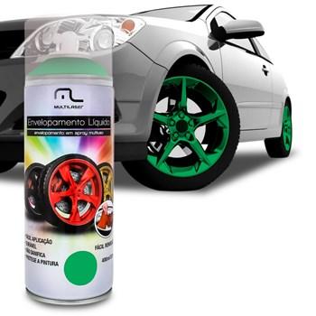 Spray Envelopamento Liquido Verde Fluorescente Au425