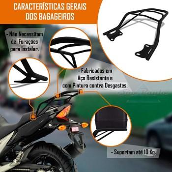 Suporte Bagageiro Fazer 250 Até 2017 + Baú Moto 27 L Givi