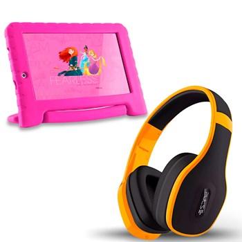 Tablet Infantil Princesa Wifi 8gb + Fone Bluetooth Amarelo