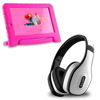 Tablet Infantil Princesa Wifi 8gb + Fone Bluetooth Branco