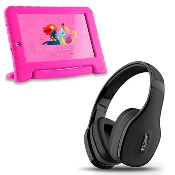 Tablet Infantil Princesa Wifi 8gb + Fone Bluetooth Preto