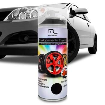Tinta Spray Envelopamento Liquido Preto Fosco 400 ML
