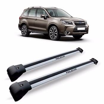 Travessa Rack Teto Subaru Forester Prata Em Aluminio Larga