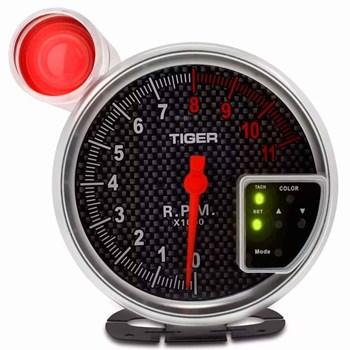 Velocímetro Conta Giro Rpm Led 10 Cores Carbono Turbo Shift