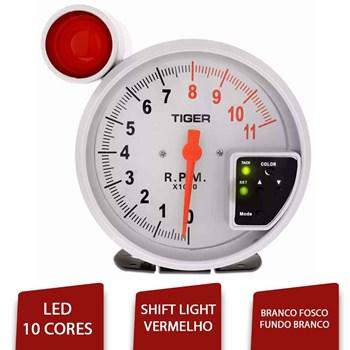 Velocimetro Conta Giro Rpm Universal Led 10 Cores Branco