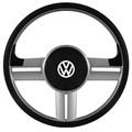 Volante Rallye Slim Prata Gol Parati Saveiro Bola Santana Golf Polo Classic